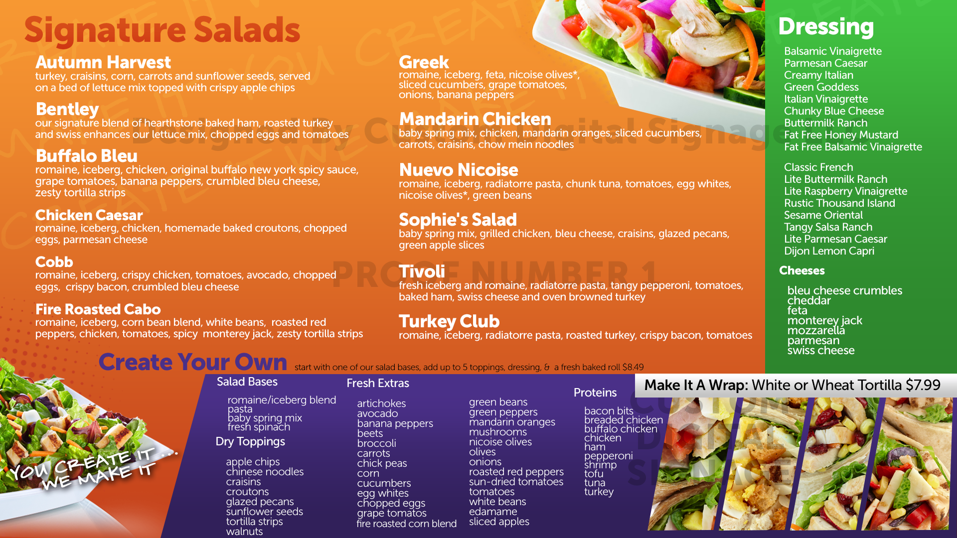 Digital Menu Board Templates - Custom Digital Signage