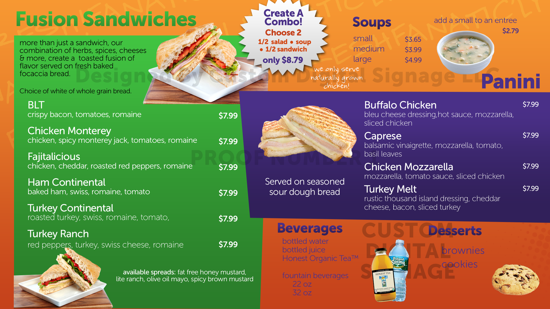 Digital Menu Board Templates Custom Digital Signage