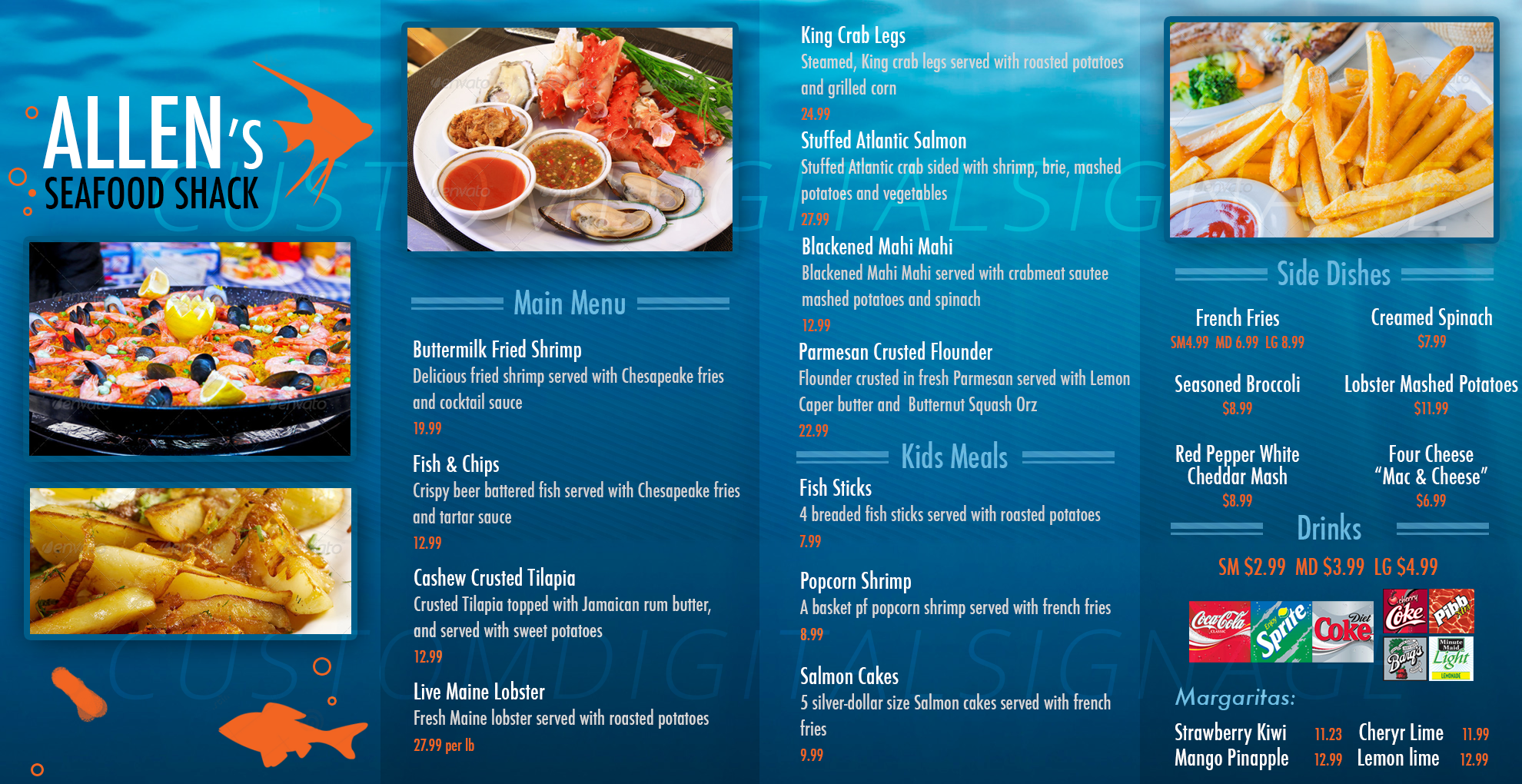 Mountain Blue Cafe Menu