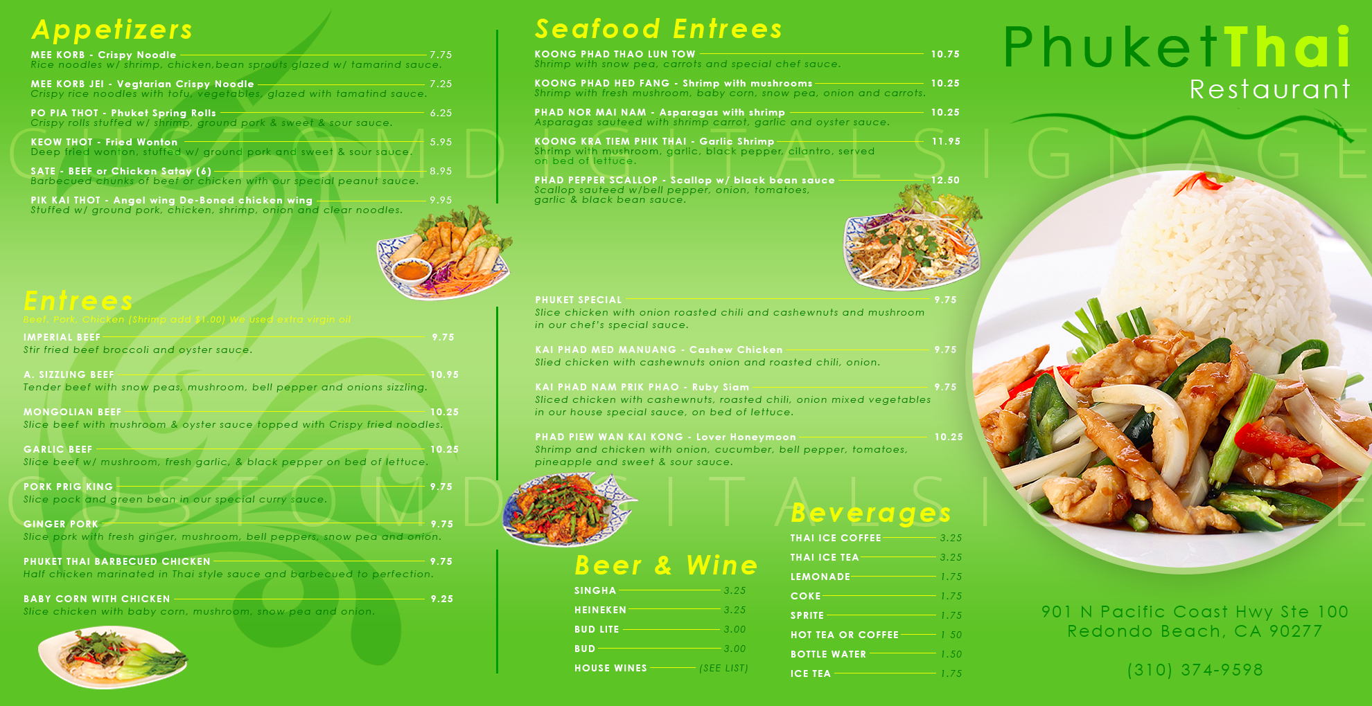 Digital menu board templates custom digital signage template thai restaurant digital menu 2 maxwellsz