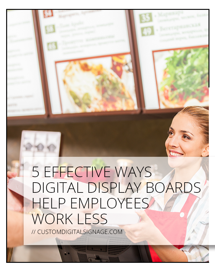 5 Effective Ways Digital Display Boards Help Employees Work Less