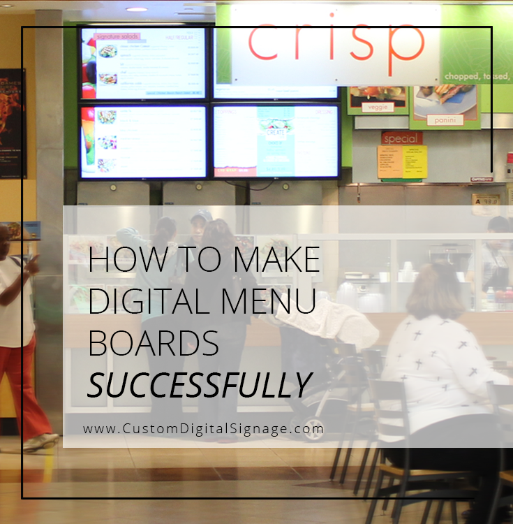 How To Make A Digital Menu Board| Featured on FastCasual.com