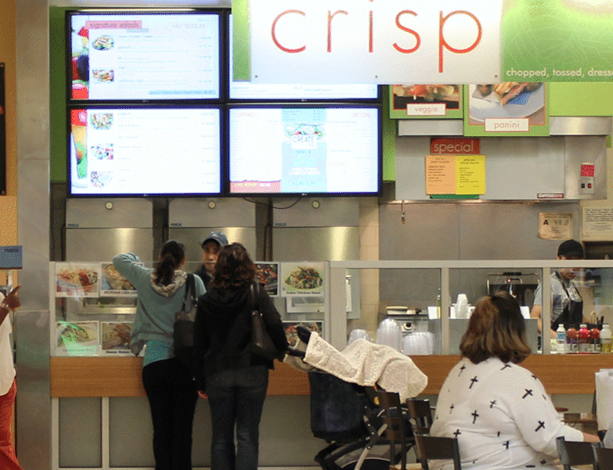 CRISP DIGITAL MENU BOARDS